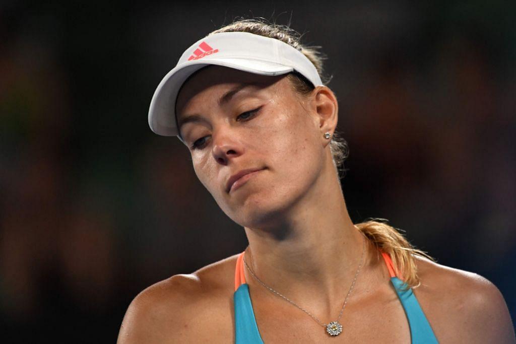 ANGELIQUE KERBER: Juara bertahan dan pemain tenis wanita nombor satu dunia tidak bermaya menentang dan mengatasi pendatang baru dan tersingkir daripada kejohanan pada pusingan awal. - Foto AFP