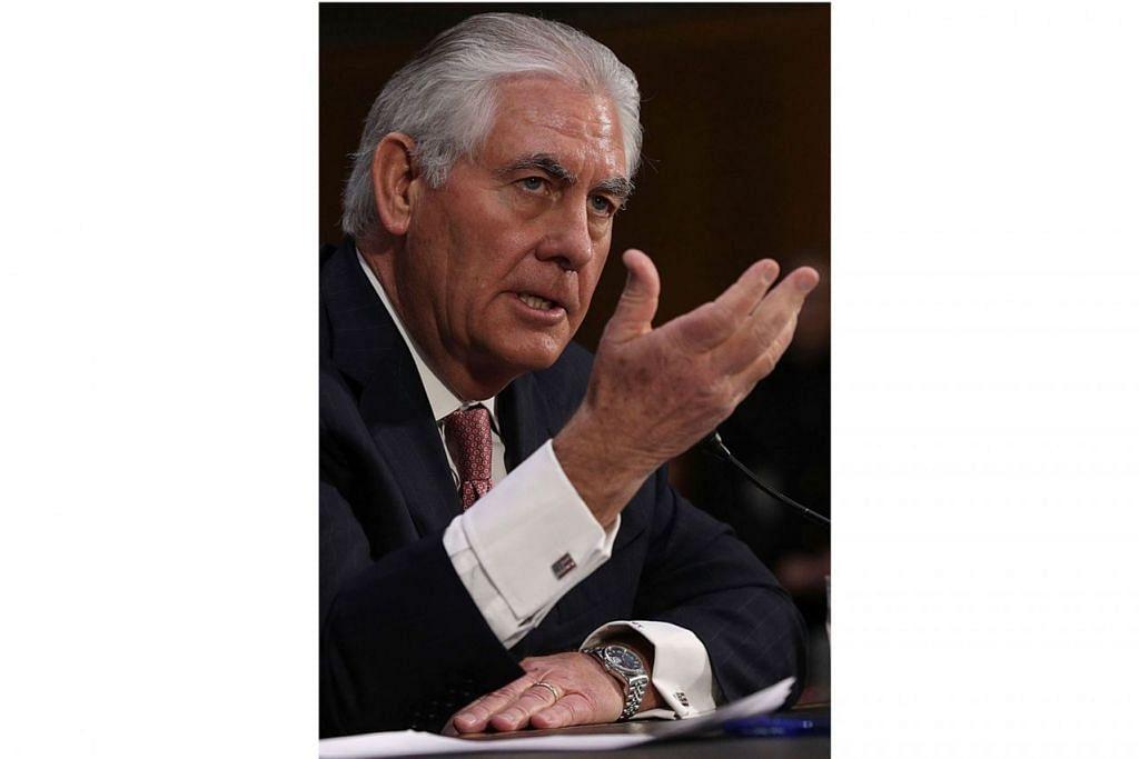 ENCIK REX TILLERSON: Mendapat 11 undi menyokong berbanding 10 undi menentang dalam undian yang dijalankan Jawatankuasa Hubungan Luar Dewan Senat Amerika Syarikat. - Foto AFP