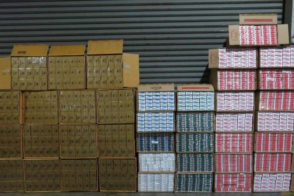 Sejumlah 20,600 karton rokok dirampas dalam operasi kedua di limbungan kenderaan di Pioneer Sector 3 pada Jan 23.