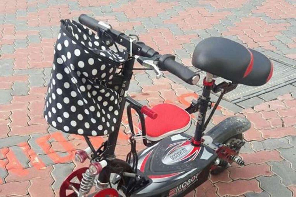 E-skuter yang dirampas.