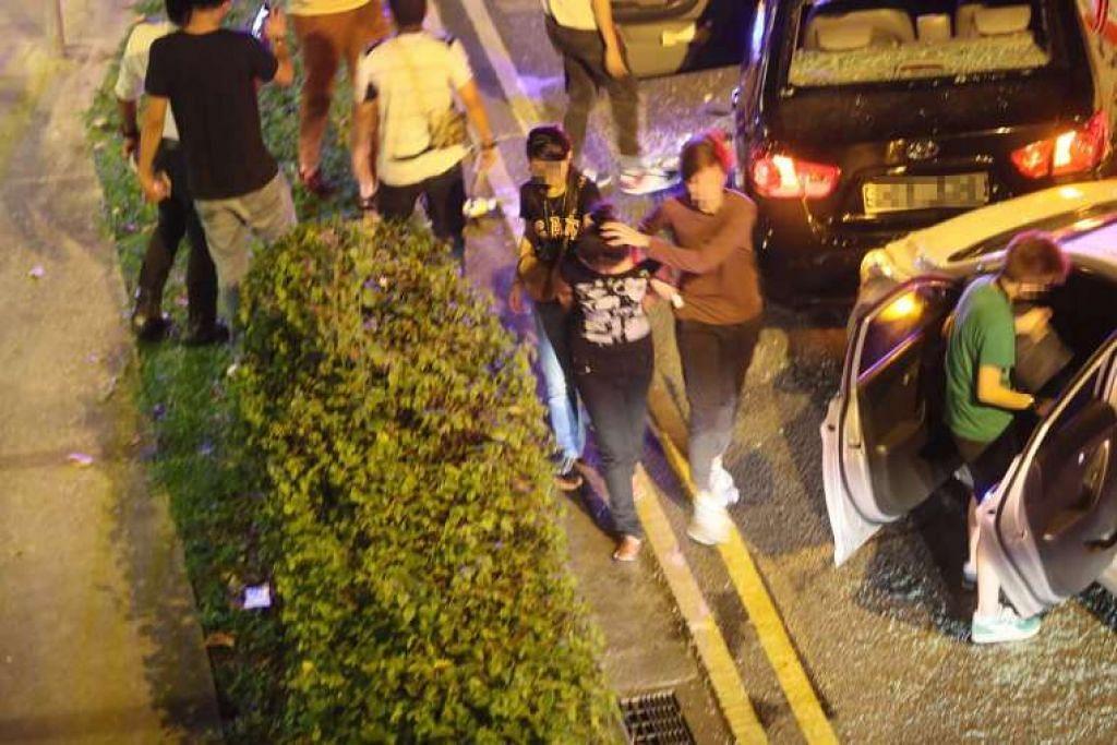 Lelaki itu cuba mengelakkan tangkapan selepas dihalang Polis Trafik.