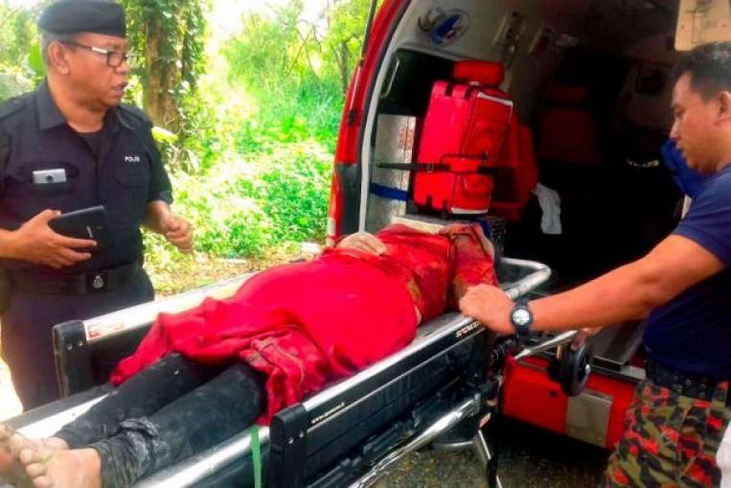 Anggota menguruskan wanita yang ditemui diikat dalam guni dan dibuang ke dalam Sungai Klang pada Isnin (7 Feb) malam.