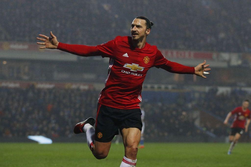 Ibrahimovic raikan gol kemenangan 2-1 ke atas Blackburn dan meletakkan Manchester United ke Suku akhir Piala FA.