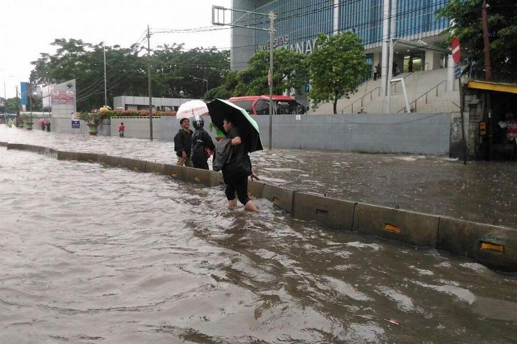 Banjir di Barat Jakarta.