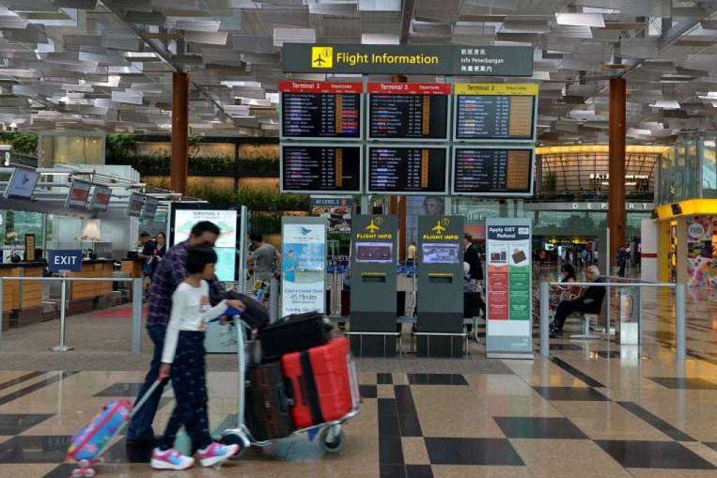Lapangan Terbang Changi kendalikan 5.26 juta penumpang pada bulan Januari --  8.2 peratus lebih tinggi berbanding tempoh yang sama tahun lalu.