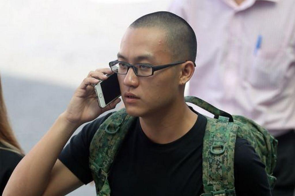 DIKENAKAN PROBESEN: Bryon Loke, yang menyerang blogger Amos Yee pada Mei tahun lalu, dikenakan probesen selama sembilan bulan dan kerja kemasyarakatan sebanyak 100 jam. - Foto fail