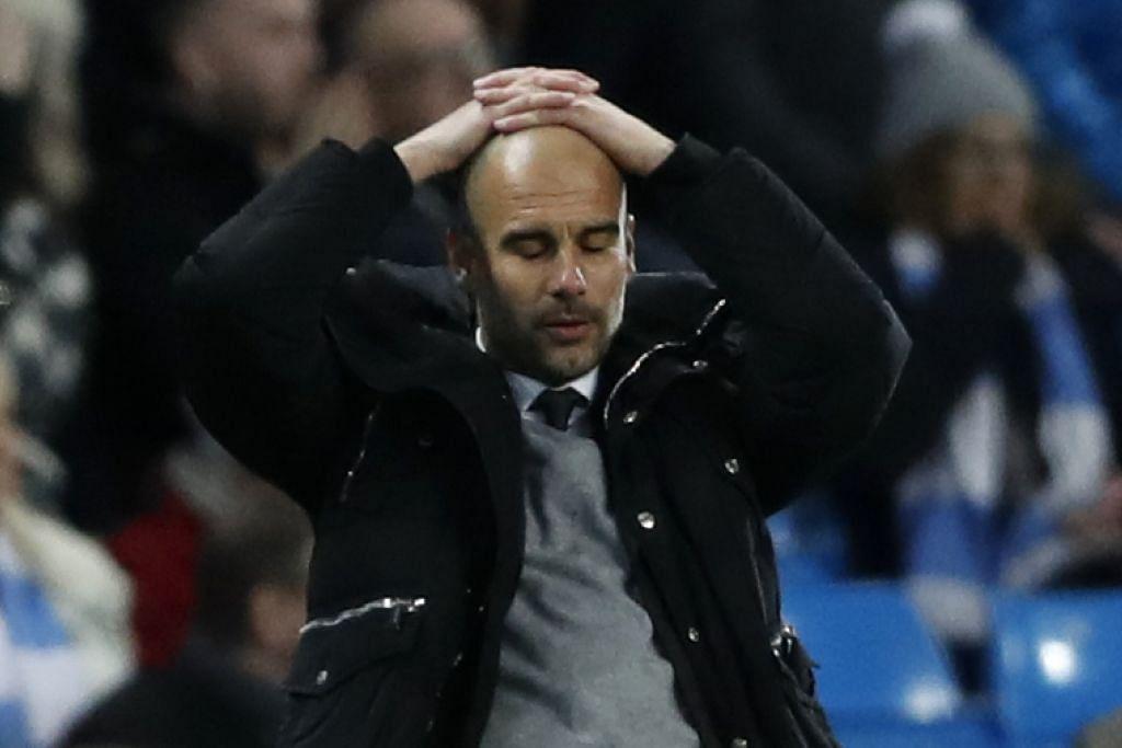 Pengurus Manchester City, Pep Guardiola, menunjukkan rasa hampa atas persembahan anak buahnya.