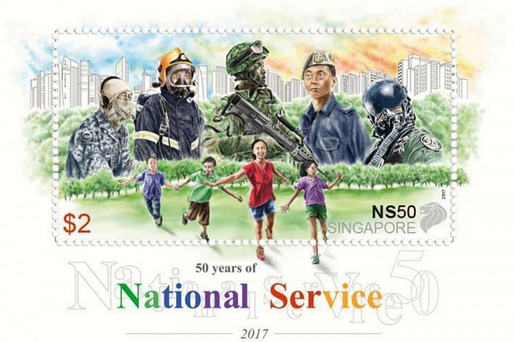 MULA DIJUAL HARI INI: Set setem NS50 meraikan peristiwa penting NS sejak ia diperkenal pada 1967. - Foto SINGPOST