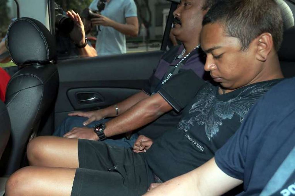 Muhammad Faizal Md Jamal (atas) dituduh membunuh Encik Satheesh Kumar Manogaran di St James Power Station.