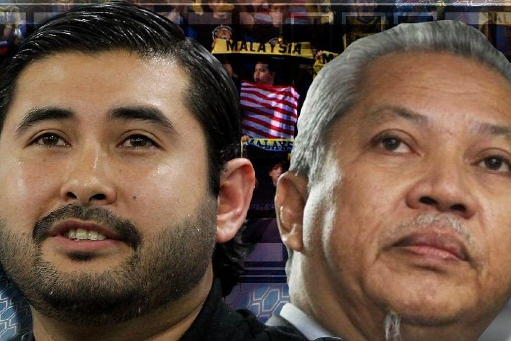 WAJAH PEMIMPIN: Tunku Mahkota Johor, Tunku Ismail Sultan Ibrahim (kiri) dijangka menduduki jawatan Presiden Persatuan Bola Sepak Malaysia (FAM) selepas Tan Sri Annuar Musa mengumumkan menarik diri daripada bertanding bagi merebut jawatan itu. - Foto MALAYSIAKINI.COM