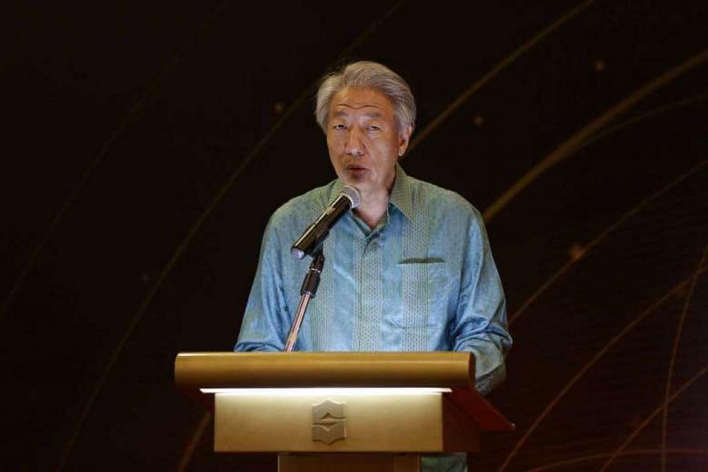 Encik Teo Chee Hean semasa berucap di Rahat Tahunan ke-13 Kumpulan Pemulihan Keagamaan di Rasa Sentosa Resort Shangri-la dan spa pada 14 Mac.