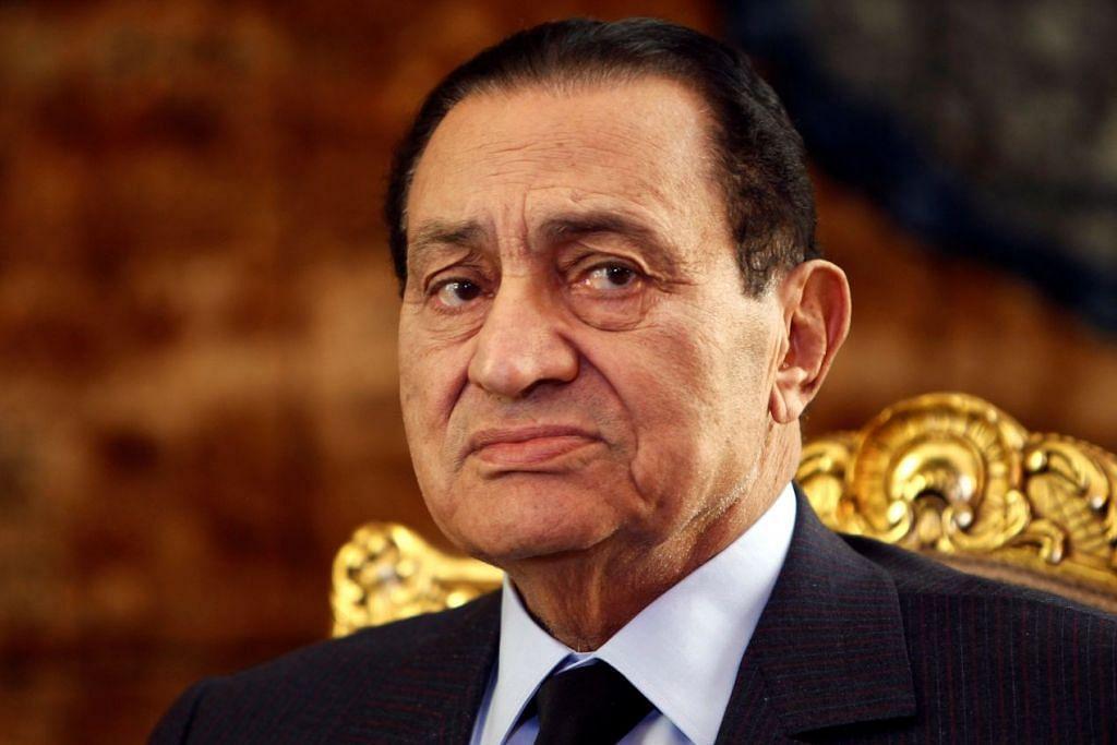 Bekas presiden Mesir Hosni Mubarak. Gambar fail.
