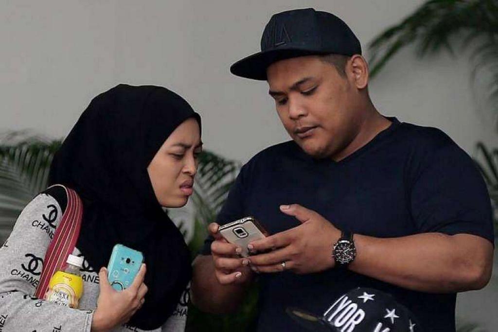 Siti Norhaizah Abdullah (kiri) dihukuman penjara enam minggu dan Rahmat Jumari (kanan) sembilan bulan kerana mencederakan Encik Muhammad Abdul Latip.