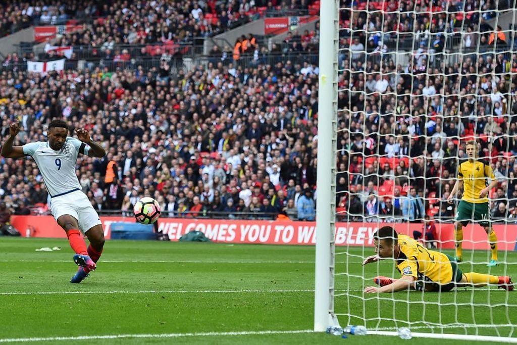Jermain Defoe menjaringkan gol pertama England, yang mengalahkan Lithuania 2-0 dalam kelayakan Piala Dunia 2018 di Stadium Wembley pada 26 Mac.