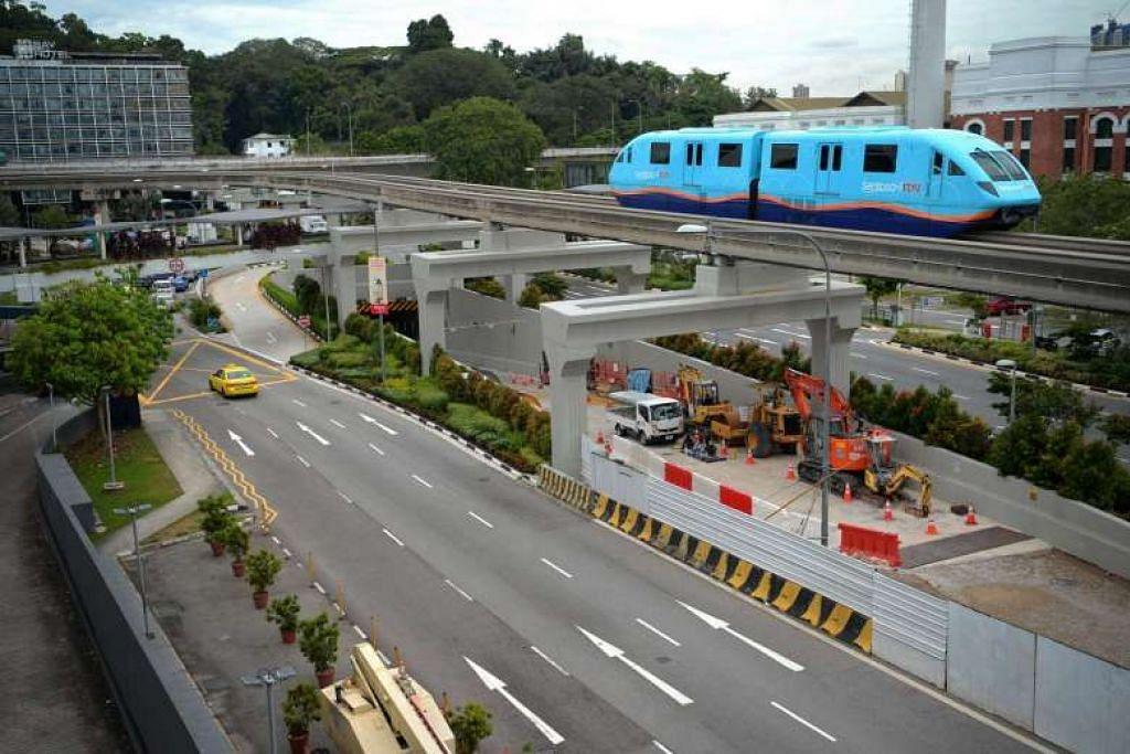 LALUAN BAHARU: Terowong Sentosa Gateway yang dibina bersebelahan St James Power Station bakal dibuka pada 27 April ini, bermula 10 pagi. - Foto THE STRAITS TIMES
