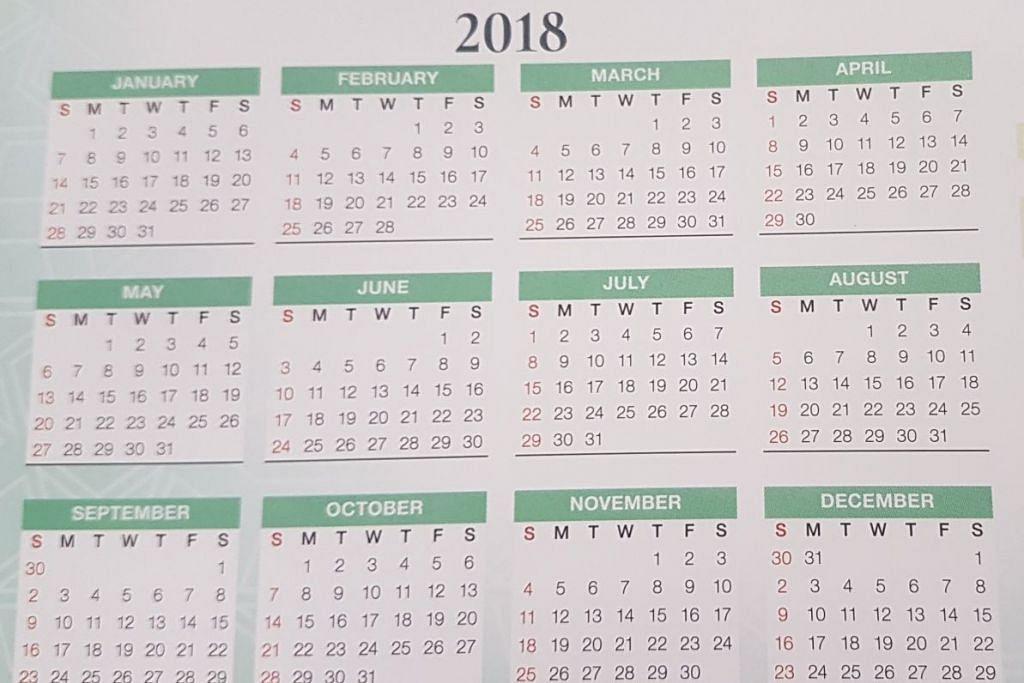 CUTI AM: Tahun 2018 menawarkan empat 'cuti panjang' hujung minggu berbanding tujuh bagi tahun ini. - Foto BERITA HARIAN