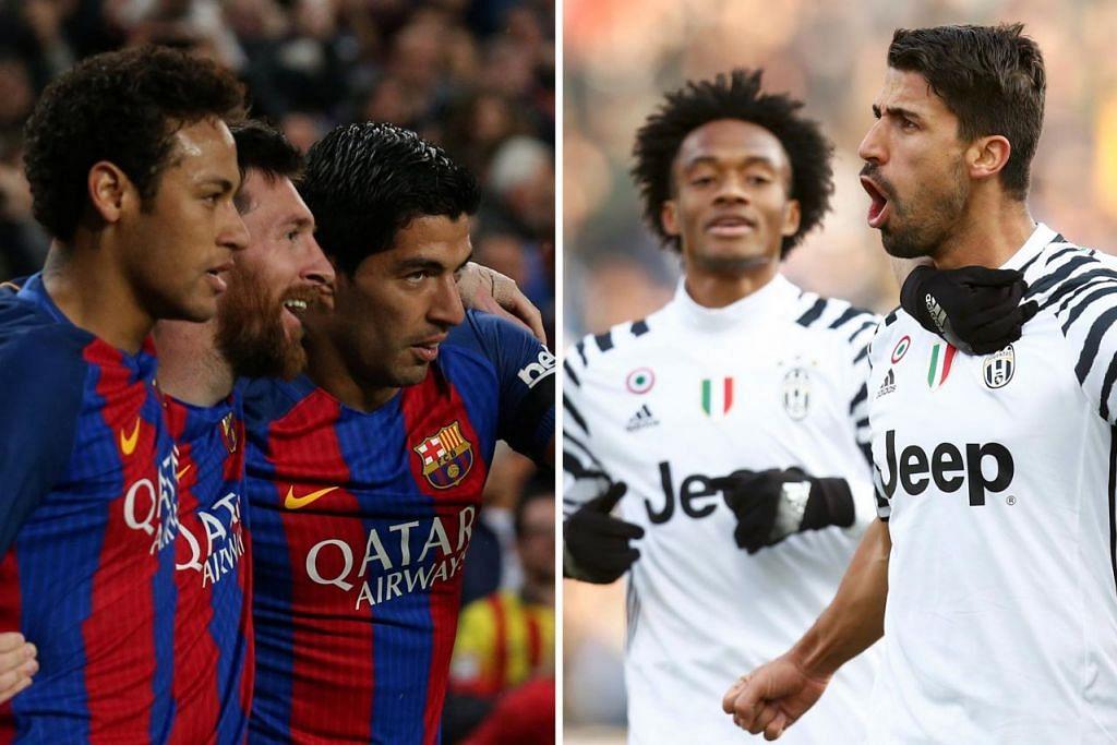 MARI KITA SAKSIKAN: Adakah Barcelona (kiri) akan mengulangi keajaibannya dengan menundukkan Juventus (kanan)? - Foto REUTERS