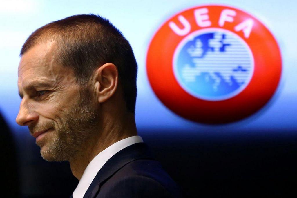 CEFERIN: Presiden Uefa ini berjanji akan mencorakkan semula bola sepak Eropah dalam tempoh lima tahun akan datang. - Foto REUTERS