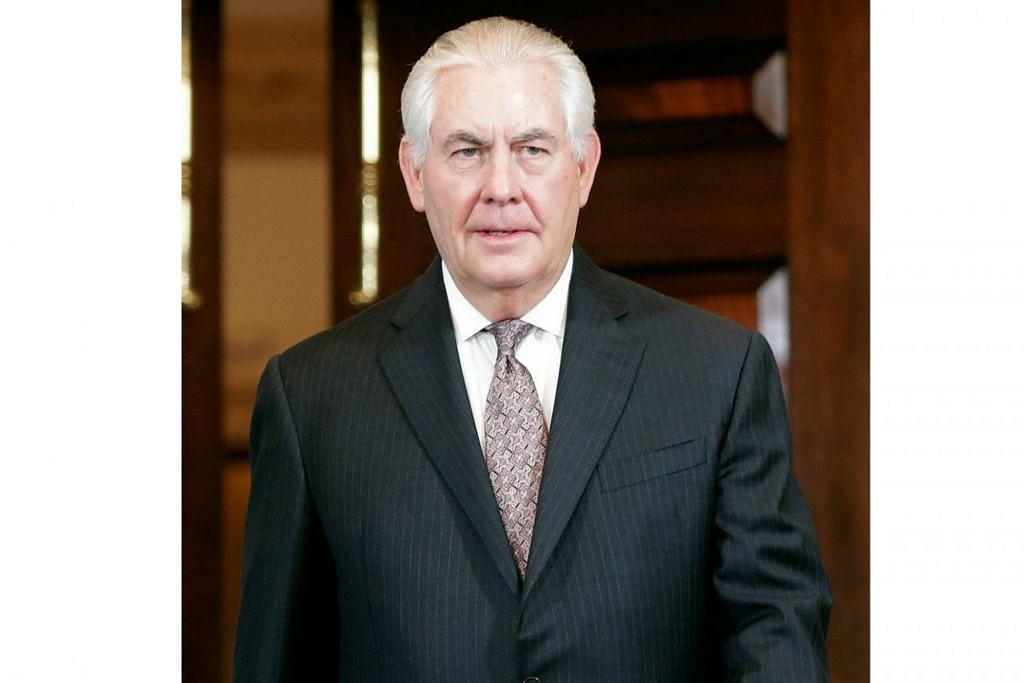 ENCIK REX TILLERSON: Pelantikannya sebagai setiausaha negara menimbulkan kontroversi kerana Encik Tillerson mempunyai hubungan baik dengan Russia. – Foto-foto REUTERS
