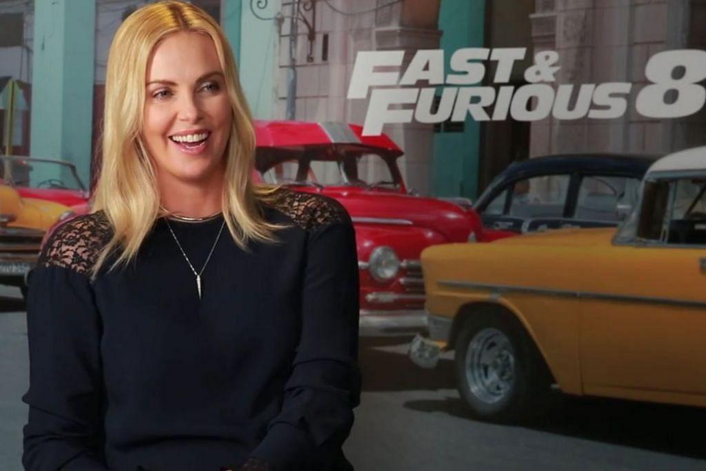FILEM AKSI: Pelakon Charlize Theron antara pelakon yang membintangi 'Fast & Furious 8'. - Foto THE STRAITS TIMES