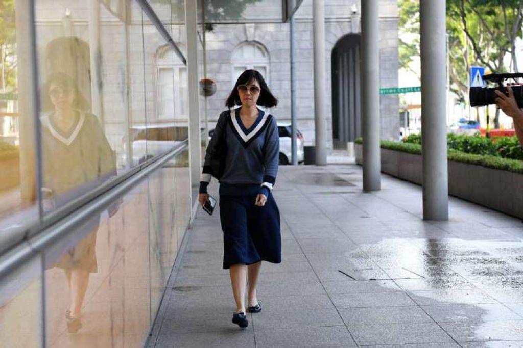 DIDAPATI BERSALAH: Bekas pengurus kewangan Gereja City Harvest, Sharon Tan, yang hadir di Mahkamah Tinggi hari ini bagi memohon memulakan hukuman penjara lebih awal diberi kebenaran untuk berbuat demikian. - Foto THE STRAITS TIMES