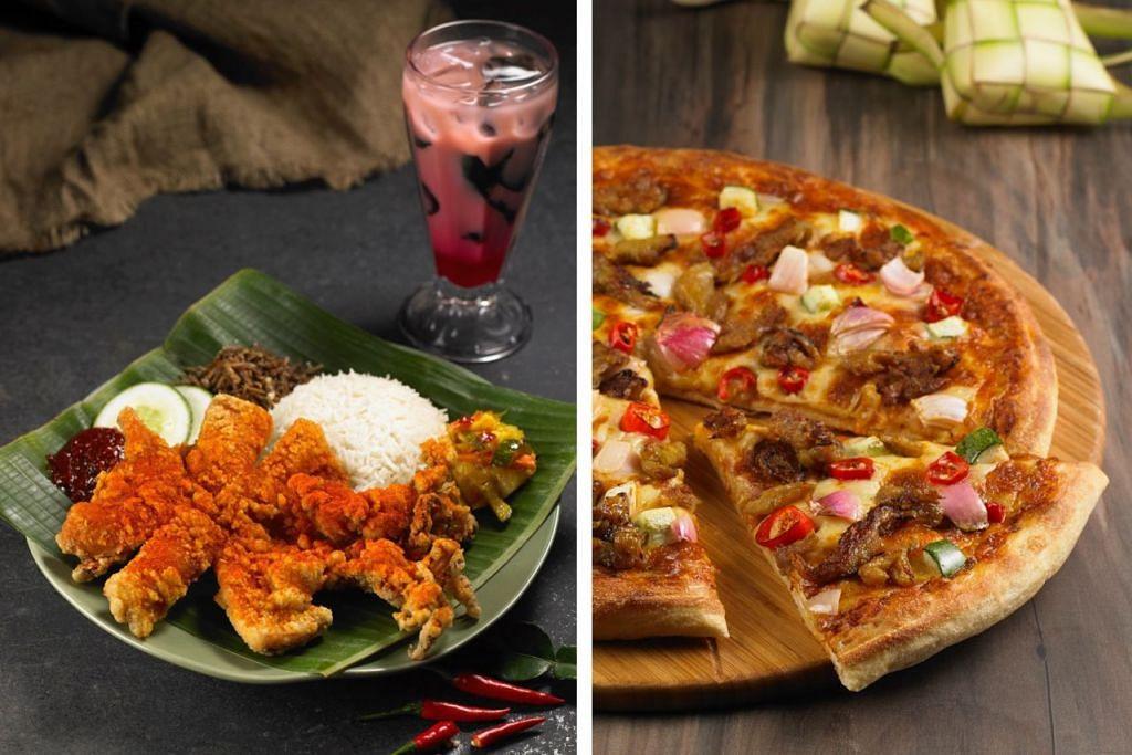 EMMM... MENYELERAKAN: Nasi lemak (kiri) dan piza ini ditaja oleh Pezzo Pizza (Pezzo) dan CRAVE Nasi Lemak & Teh Tarik (CRAVE). Golongan kurang mampu akan berpeluang menikmati hidangan lazat di atas sempena Program Jemput Makan anjuran Pezzo Pizza (Pezzo) dan CRAVE Nasi Lemak & Teh Tarik dengan kerjasama BH. – Foto-foto CRAVE DAN PEZZO