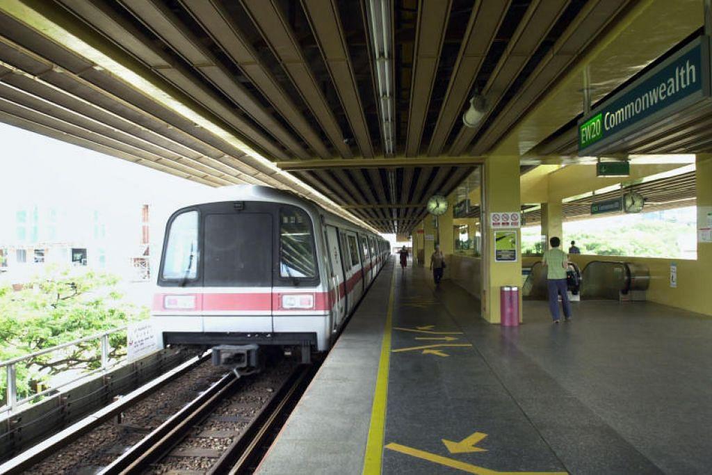 Stesen MRT Commonwealth antara stesen yang terjejas di laluan Timur Barat (EWL).