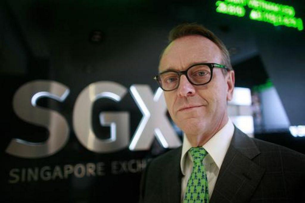 MENINGGAL AKIBAT BARAH: Mendiang Magnus Bocker ketua eksekutif SGX dari 2009 hingga 2015. – Foto REUTERS