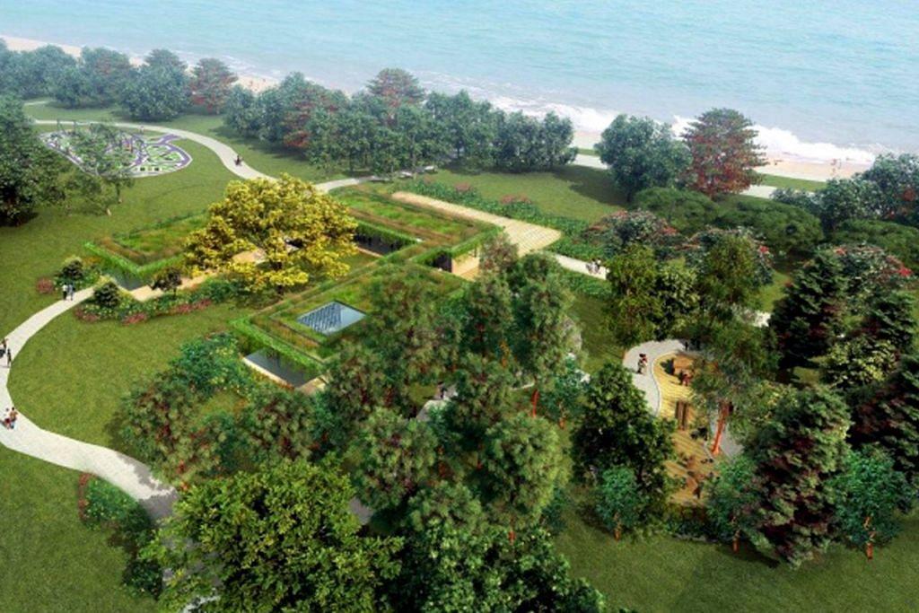 TEMPAT BERSANTAI: Mereka yang mahu berehat dan bersantai boleh melakukannya di kawasan tanah terbuka di Raintree Cove yang dikelilingi beberapa taman. - Foto NPARKS