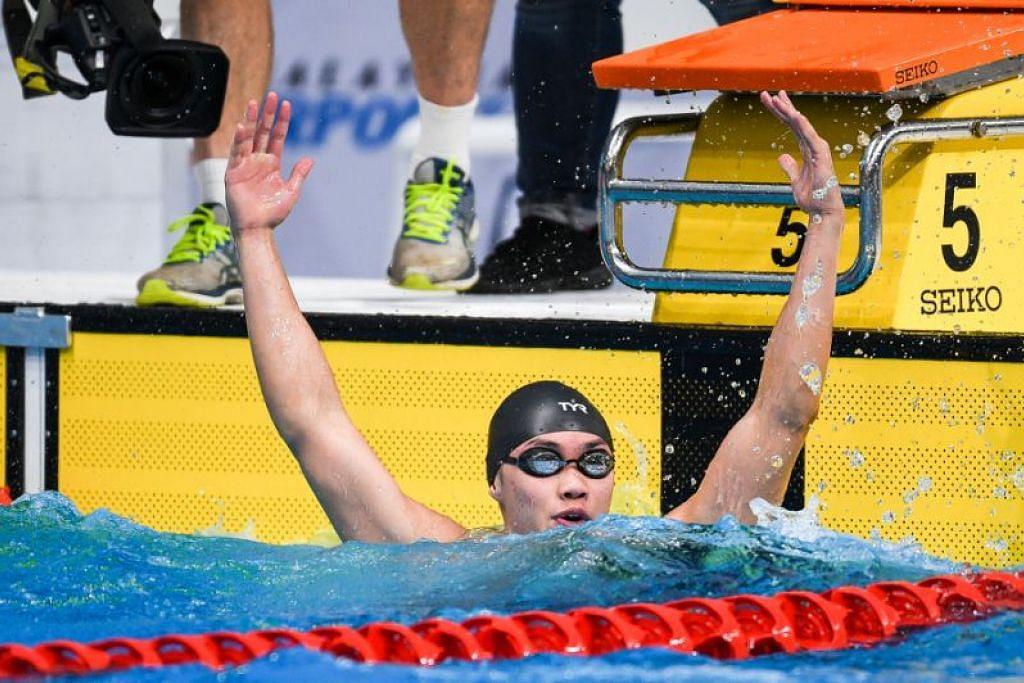 Teong Zen Wei mengejutkan dengan emas. FOTO: Andy Chua/SportSG