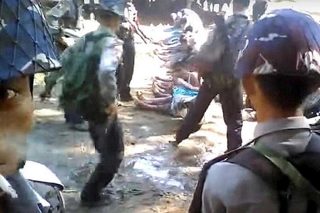 Myanmar tahan polis terlibat dalam video belasah orang Rohingya