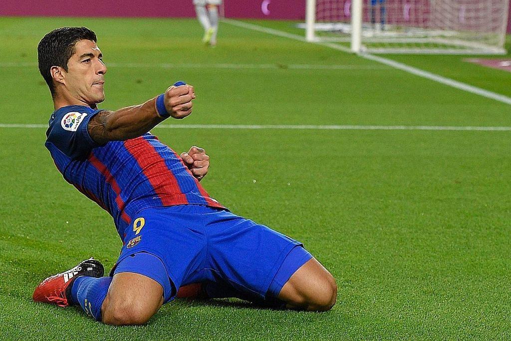 Suarez jaring gol ke-100 untuk Barcelona