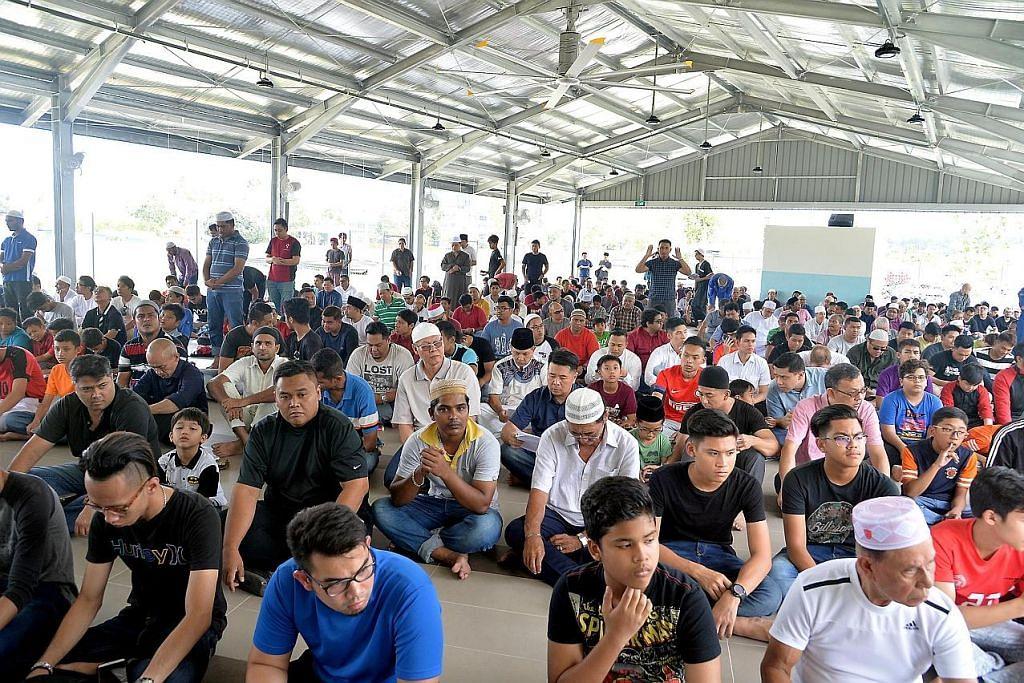 Musala sementara Masjid Al-Istighfar siap