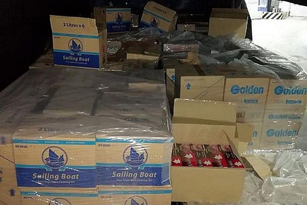 Lebih 4,800 karton rokok kontraban dirampas di Woodlands