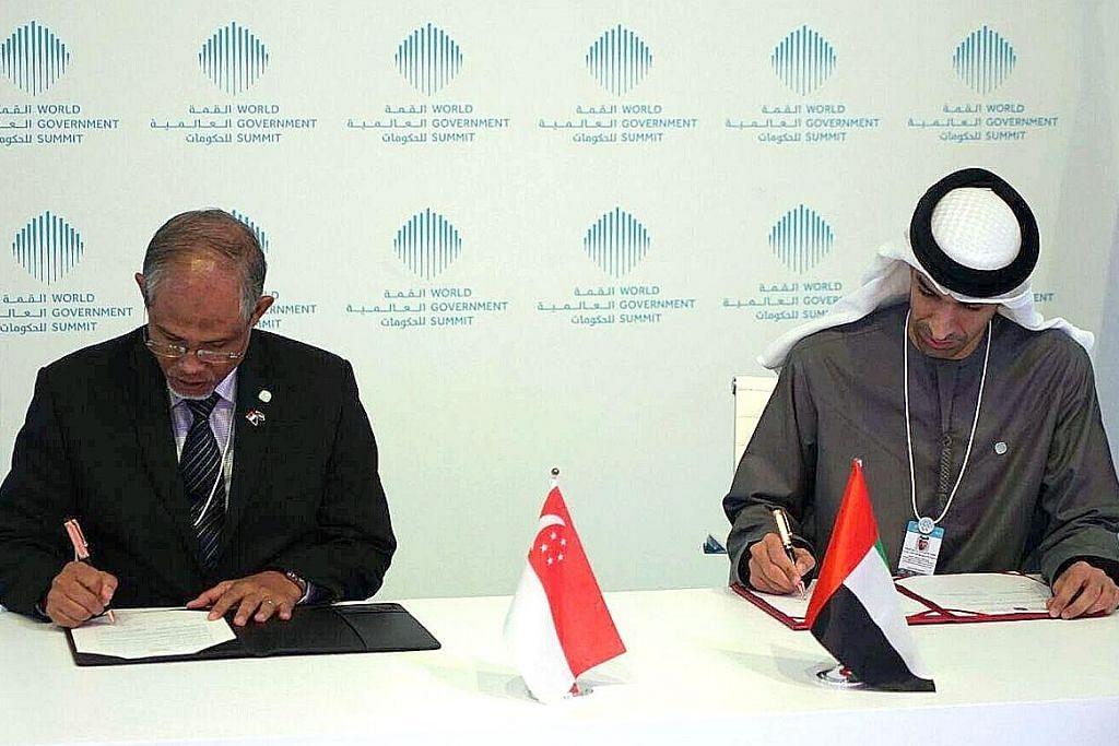 S'pura, UAE meterai janji bagi kerjasama isu sekitaran dan iklim