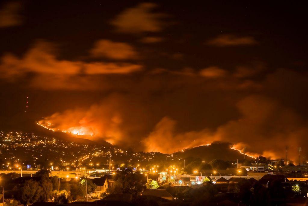 Kebakaran hutan landa Christchurch