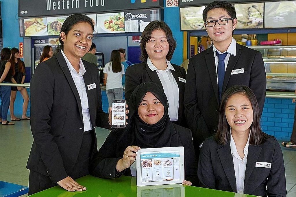 'Kantin bijak' ciptaan pelajar poly lancarkan jual beli makanan