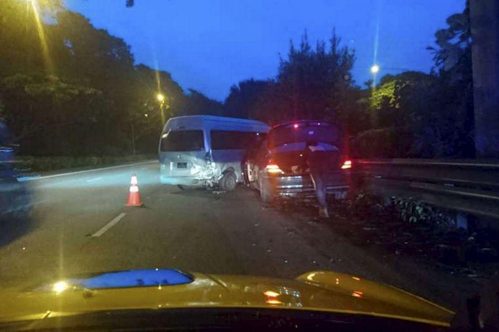 Langgar van: Pemandu ditangkap kerana mabuk
