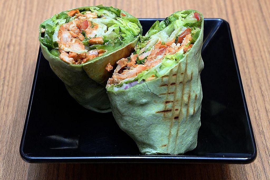 Pilihan sihat hidangan 'wrap' dan salad