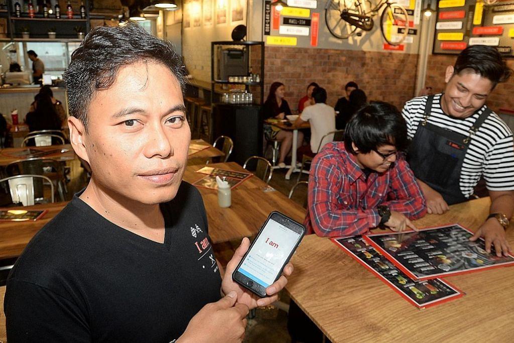 Kafe guna app untuk jimat
