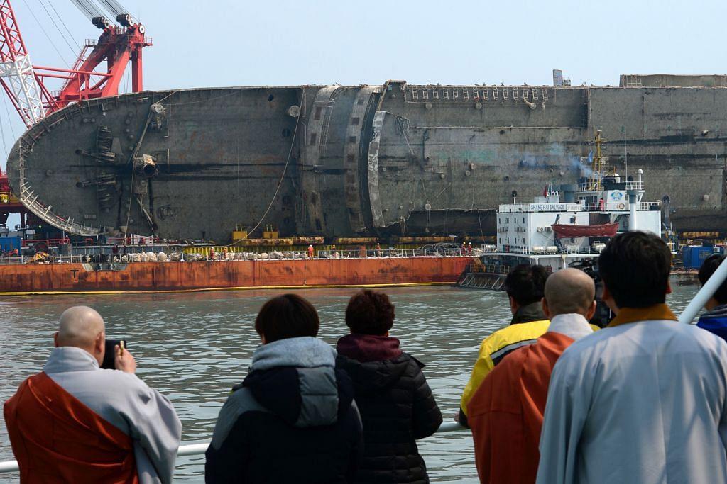 Tragedi feri 2014 Korea S: Sisa mayat ditemui