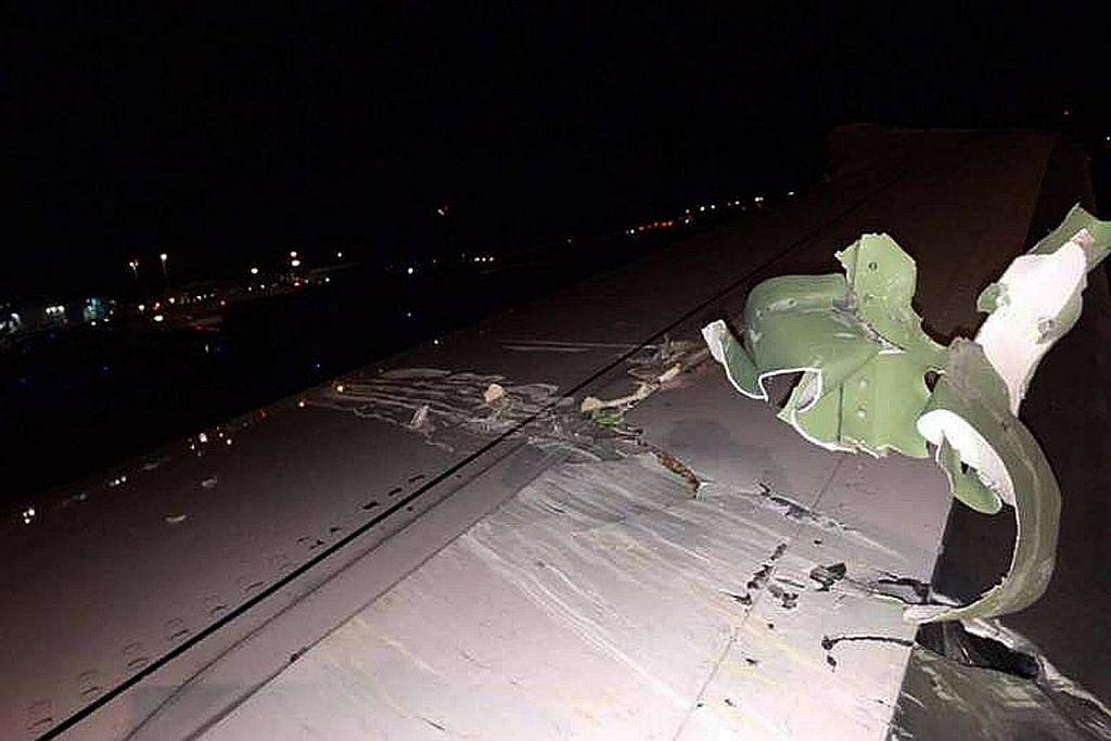 Pesawat Scoot dan Emirates berlanggar di Lapangan Terbang Changi
