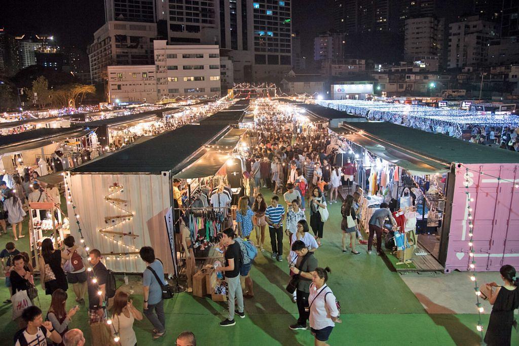Pasar lambak Bangkok bertandang ke Singapura