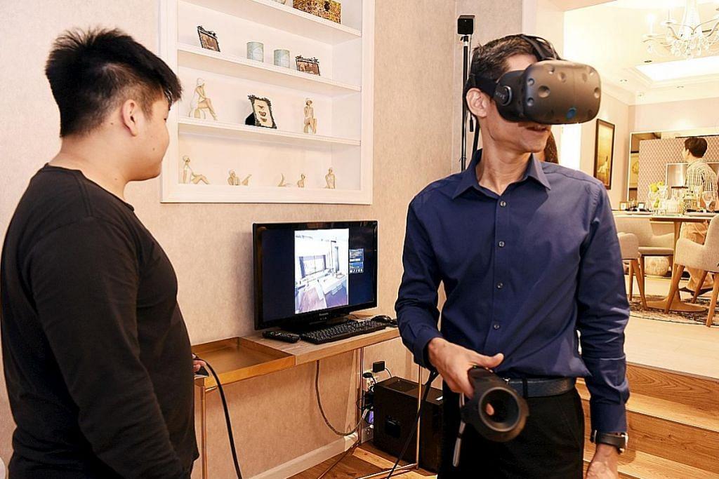 MEMANFAAT TEKNOLOGI UNTUK PERTINGKAT PENGHASILAN Teknologi realiti maya papar ubah elok sebelum renovasi bermula