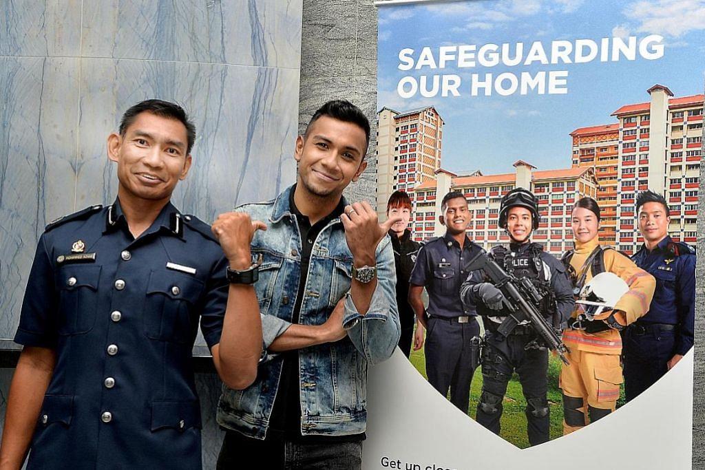 Ghairah pimpin perbarisan pertunjukan gala Home Team