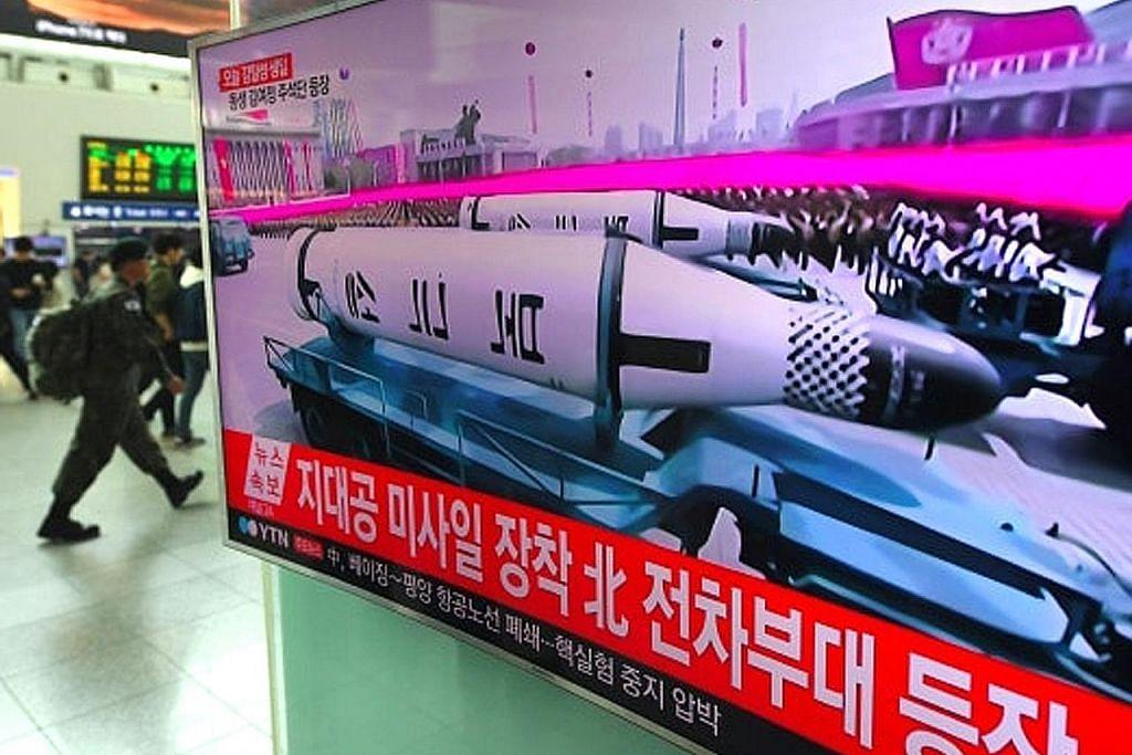Korea U pamer peluru berpandu balistik dilancar dari kapal selam