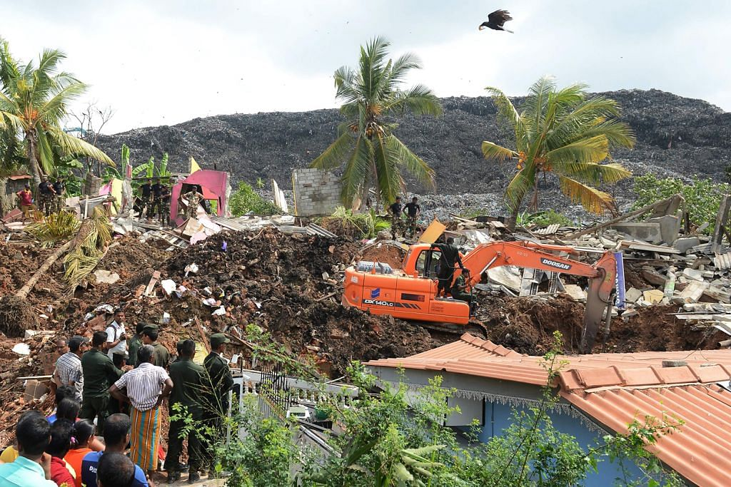 Runtuhan bukit sampah di Sri Lanka ragut puluhan jiwa