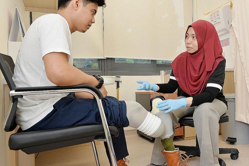 Pusat bantu pesakit kudung berjalan semula dengan kaki palsu
