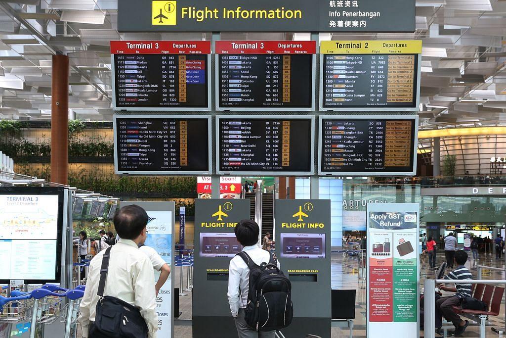 Bilangan penumpang dikendali lapangan terbang Changi naik capai 15j