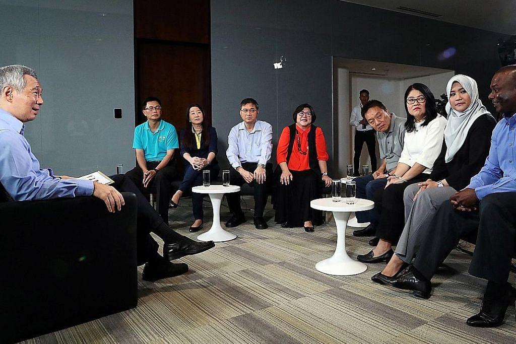 PM Lee: Usahakan peluang baru PERBINCANGAN MASA DEPAN PEKERJAAN